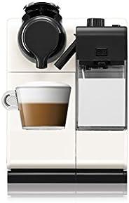 Nespresso, Cafetera Lattissima Touch, Color Blanca (Incluye obsequio de 14 cápsulas de café)