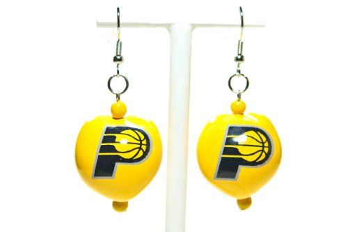 NBA Indiana Pacers Go Nuts Kukui Nut Earrings by Style Pasifika