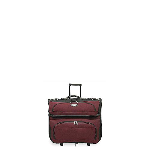 - Travel Select Amsterdam Rolling Garment Bag Wheeled Luggage Case, Red (23-Inch)