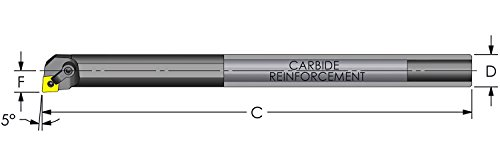 "Ultra-Dex R20U MCLNR4 Reinforced Carbide Boring Bar to Hold a Negative CNMG 432 at -5 Degree Lead, Right Hand, No Coolant, 1.250"" x 14"", 1.470"" Minimum Bore Review"