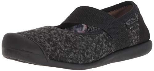 KEEN Women's Sienna MJ Wool Mary Jane Flat, Black/Steel Grey, 10 M US (Keen Shoes Women Mj)