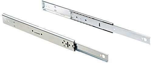 BUD Industries AS-5000-A Steel Sliding Mechanism, 12'' Length, 8'' Travel, 140 lbs Load Rating, Zinc Plated Finish (Set of 2 Pieces) by BUD Industries