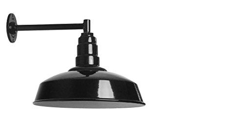 The Gardena Straight Arm Barn Light | Standard Warehouse Steel Dome on a Straight Arm | Barn Lighting and Farmhouse Lighting | Made in America (11