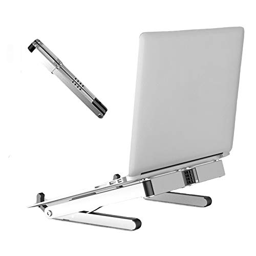 SYOOY Portable Laptop Stand Adjustable Foldable Book MacBook Holder Support Compatible with MacBook/Surface/Samsung/HP/Dell/Chrome Book/Gaming Laptop ()