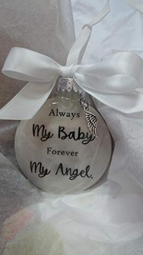 My Baby Memorial Ornament w/Angel Wing Charm In Memory of Infant Loss (Ornament Angel Wings In Baby)
