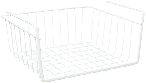 Metaltex USA Inc. Under Shelf Basket, White, - White Usa Wire Shelf