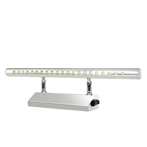 LED luces de mueble con interruptor para espejo baño salón dormitorio 5W 40cm blanco frío 6000 K/Blanco cálido 3000K, ahorro de energía un + (Blanco frío 6000K) [Clase de eficiencia energética A+] SZFC