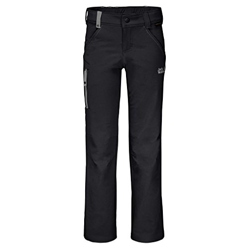 Jack Wolfskin Kids Activate Pants, Black, Size 164 (13-14 Years Old) by Jack Wolfskin