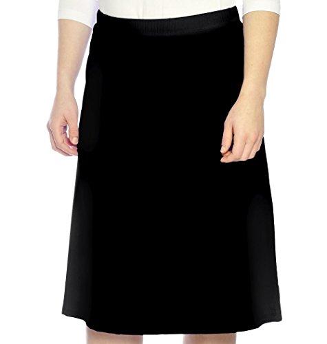 Kosher Casual Women's Modest Running & Sports Skirt XXXL Black