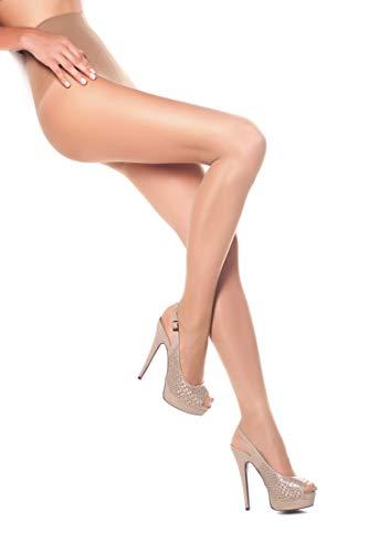 - Opaque Shaping Pantyhose Body Shaper Tights Top Control Shapewear 40 Denier (L, Visone)