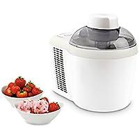 MEDION MD 16980 Eismaschine, 90 Watt, Speise-EIS, Frozen-Yoghurt, ca 700ml EIS oder Frozen Joghurt, Füllmenge 300ml, Zubereitungszeit 50-70 Min, weiß