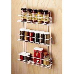 3-Shelf Wire Spice Rack White