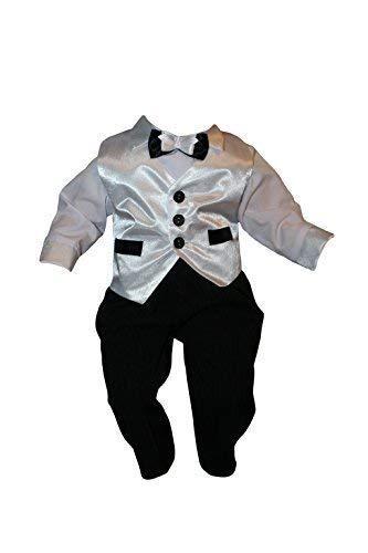 Vestito per Battesimo, Vestito da festa, Completo per Bambino, 5 Pz., bianco nero, Baby bambino Bambini bambino battesimo vestito Abiti Sposa K12 K12/5