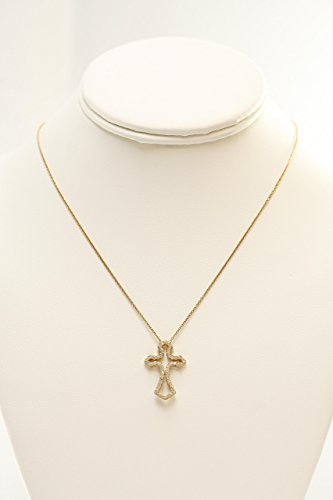 Cubic Zircon Cross Pendant Necklace