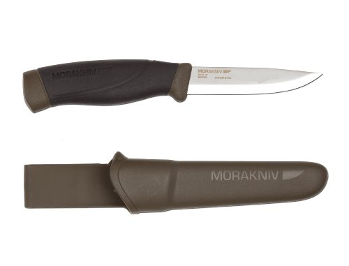 Morakniv Companion Heavy Duty Knife with Carbon Steel Blade, 0.125/4.1-Inch