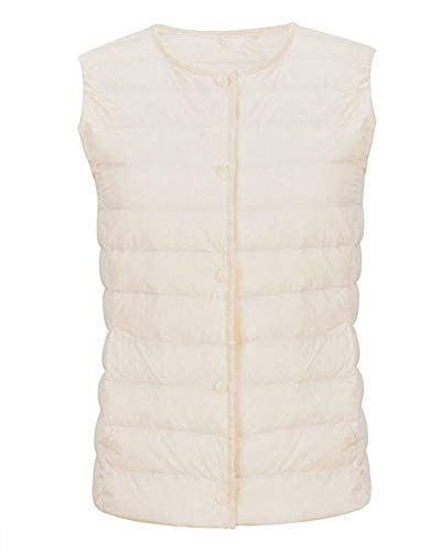 Jacket Down Vest Women's Quge Lightweight Ruwhite for Travelling Gilet Casual HWcnOP