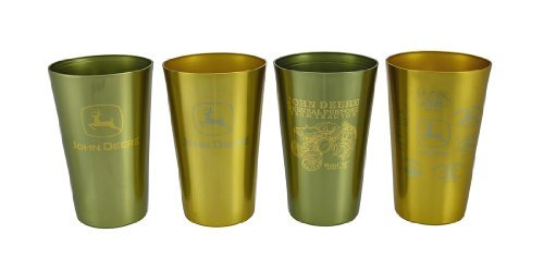 John Deere Logo Design Aluminum 16 oz Beverage Tumblers - Set of 4