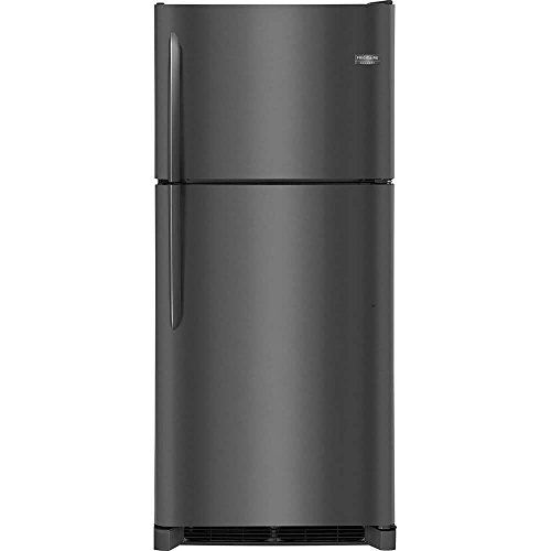 (Frigidaire FGTR2042TD Gallery Series 30 Inch Freestanding Top Freezer Refrigerator with 20.4 cu. ft. Total Capacity, in Black Stainless Steel)