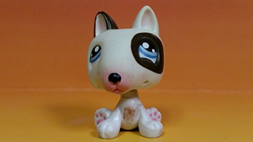 Bull Terrier No# (Diary Dog, No Spots on Belly) - Littlest Pet Shop (Retired) Collector Toy - LPS Collectible Replacement Single Figure - Loose (OOP Out of Package & Print)