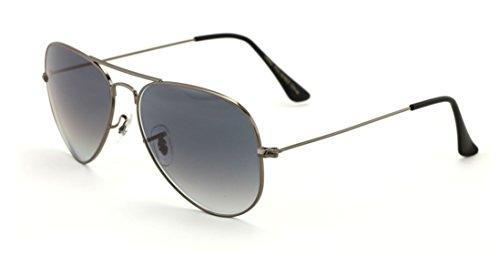 VW Eyewear - Classic Tear Drop Premium Glass Lens Aviator Sunglasses - Standard Size (Gunmetal, Black - Gradient Aviators Black