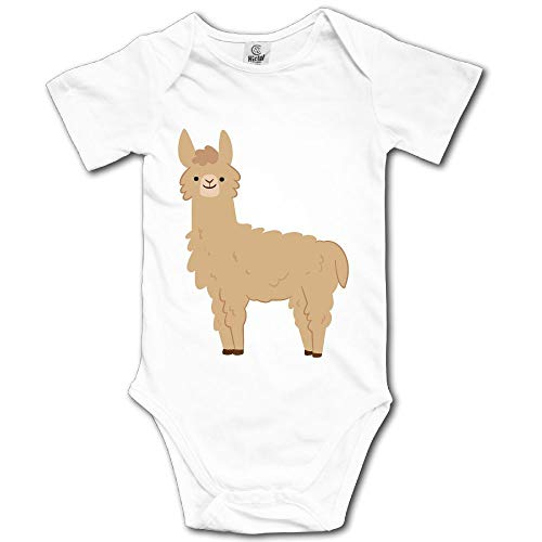 V5DGFJH.B Baby Toddler Climbing Bodysuit Brown Llama Infant Climbing Short-Sleeve Onesie Jumpsuit]()