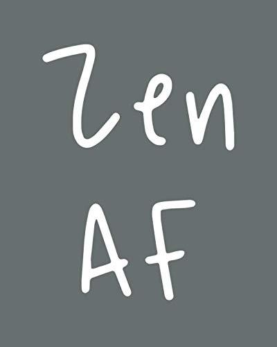 Zen AF: 108 Page College Ruled Notebook 8x10 : Slate Gray Satin Matte Cover
