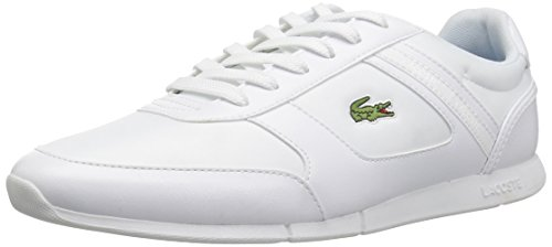 Men's Menerva White Synthetic Lacoste Blue Sport Sneaker 5dnzI