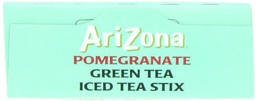 AriZona Pomegranate Green Tea Iced Tea Stix Sugar Free, Low Calorie Single Serving Drink Powder Packets, Just Add Water for a Deliciously Refreshing Iced Tea Beverage, 10 Count per box, Pack of 6 7 HAVE TEA WILL TRAVEL: Everything you love about AriZona Iced Tea now in convenient Stix you can take to go! AriZona Iced Tea Stix fit easily in your bag, purse or pocket. Add water for delicious pomegranate Green Tea in an instant, any time, anywhere. DRINK SUGAR FREE: AriZona Iced Tea Stix are sugar free and sweetened with Splenda, for a big taste that's light on calories. Just tip a single-serving packet into a 16 or 20 ounce bottle of crystal clear water, screw the cap back on, shake well and enjoy! TRY EVERY FLAVOR: Start with our Green Tea--then branch out! Get fruity with Pomegranate, Peach, and Lemon Tea. Tart it up with some Lemonade, or go half on an Arnold Palmer. Get amped with an Energy Shot, or take your drink to go with Iced Tea Stix