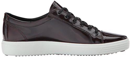 Ecco Heren Soft 7 Premium Das Fashion Sneaker Bordeaux Patent
