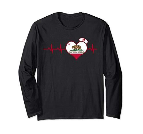 California Nurse Heartbeat Long Sleeve shirt