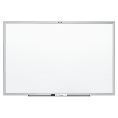 Quartet Standard Magnetic Whiteboard, 4 x 3 Feet, Silver Aluminum Frame (SM534) by Quartet