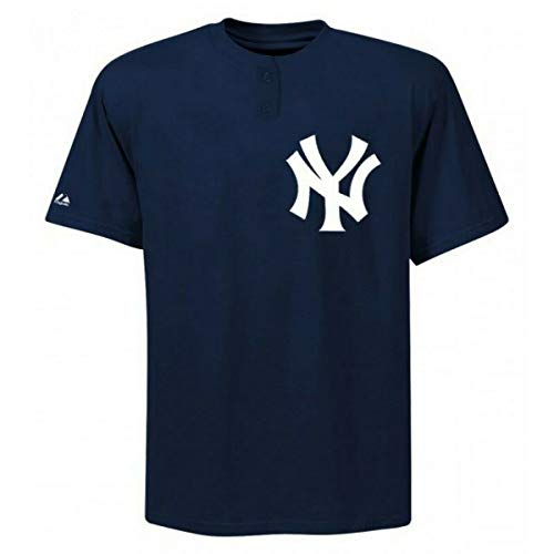 Majestic Two-Button New York Yankees Replica Youth Jersey 50/50 Blend YL (R14)