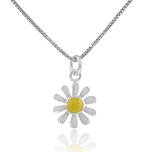 Sterling Silver Daisy Flower Necklace for sale  Delivered anywhere in USA