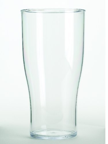 10 Solid Rigid Plastic CE Marked Pint Glasses - Tulip (Pilsner) Style Reusable & Dishwasher Safe