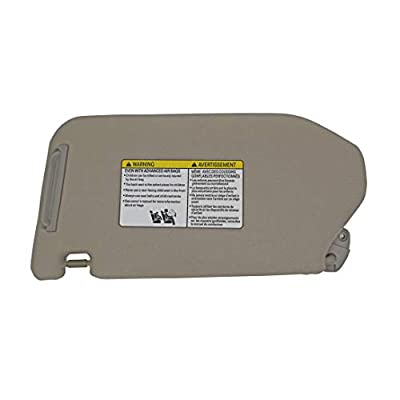 State Warehouse 96400-9PB0A Right Passenger Sun Visor for 2013 2014 2015 2016 2020 2020 Nissan Pathfinder 2014-2020 Infiniti QX60 with Lamp-Grey: Automotive