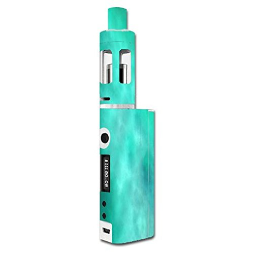 Kanger Subox Mini Kit Vape E-Cig Mod Box Vinyl DECAL STICKER Skin Wrap / Blue Teal Aqua Smoke Cloud Clouds (Kanger Vaporizer Kit compare prices)