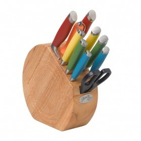 Fiestaware 11 Piece Knife Block Set - Multicolored