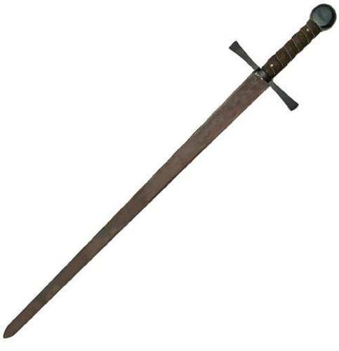 SZCO Supplies Hand Forged Rustic Sword Carbon Steel Sword