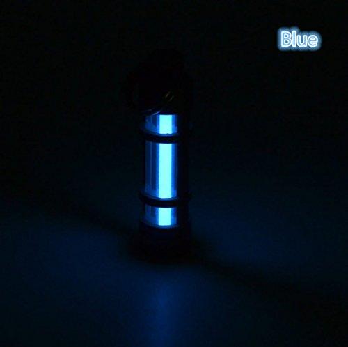 Key Chain Tritium Vials Tube Lamp Self Luminous 25 Years Fluorescent Vial Key Ring Hurricane Emergency Survival Lights For Outdoor Blue