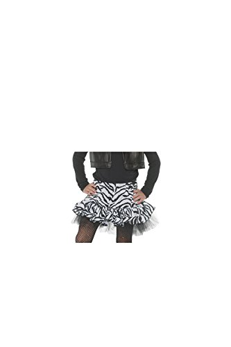 Molly Ringwald Halloween Costumes (Little Girl's 80's Retro Flashback Costume Zebra Skirt- White, Small)