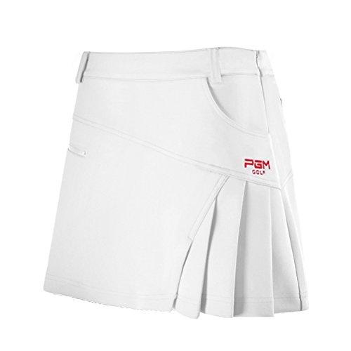 Kayiyasu スカート レディース ゴルフウェア 見せパン付き 女性 ミニスカート 夏 021-xsty-qz012(L ホワイト)