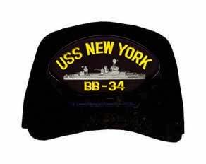 USS New York BB-34 Ship Cap