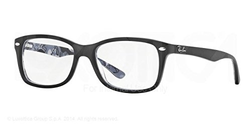 Ray-Ban Women's RX5228F Eyeglasses Top Matte Black On Texture - 5228 Rayban