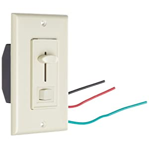 Morris Products 82750 Slide Dimmer With Switch, Ivory, Single Pole