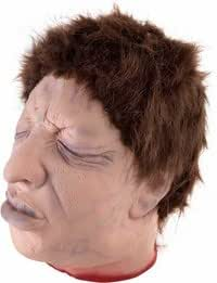 Fake Human Male Face Severed Head Prop