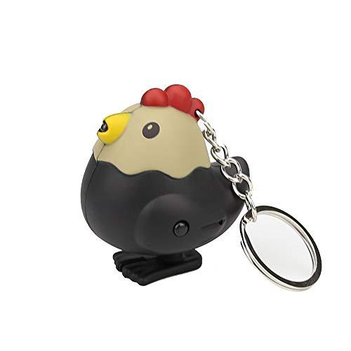 Danhjin LED Key Chain, New Fashion Cute Lovely Cartoon Chick LED White Light Flashlight Keychain Keyring with Sound
