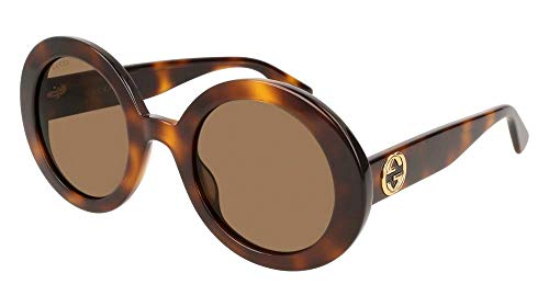 Gucci GG0319S Sunglasses 002 Havana / Brown Lens 52 mm ()
