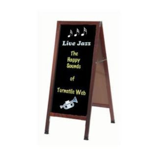 Aarco MA-3B Cherry Wood Composition Chalkboard Sidewalk Sign ()