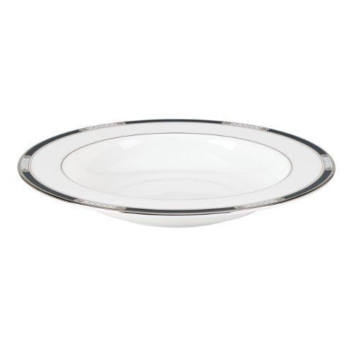 Hancock Platinum - Lenox Hancock Platinum Pasta/Rim Soup Bowl, White by Lenox