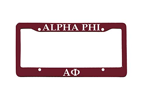 - Officially Licensed Alpha Phi License Plate Frame - Deep Maroon